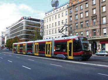 643 m km of fast lanes Investments in the rolling stock: 186 modern trams for 360 million 168 modern buses (including