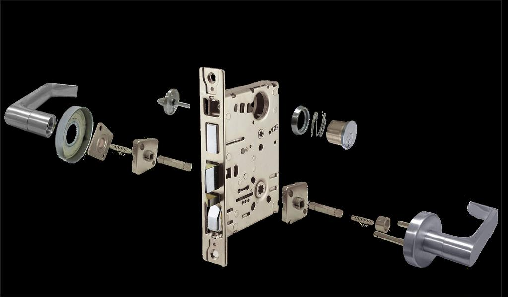 For Doors... 1 ¼ Backset... 2 ¾ Lockcase... FEATURES & SPECIFICATIONS Heavy gauge zinc chromate steel Front... Heavy gauge steel x 1 ¼ x 3 / 32.