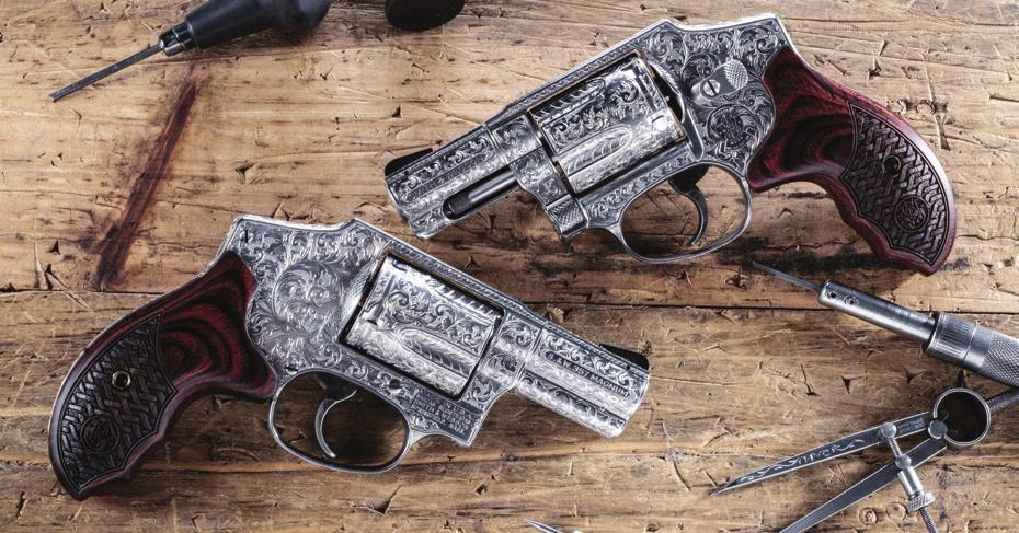 Model 29* Large (N) Frame Revolver Blued Finish * Mahogany Presentation Case Included See the