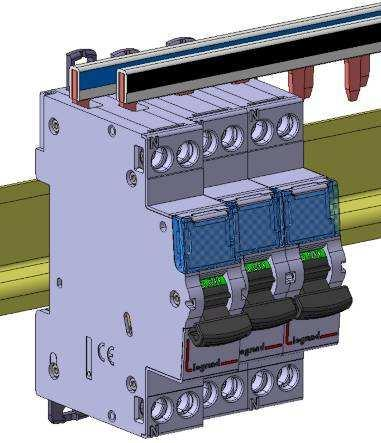 4. PREPARATION - CONNECTION (continued) Module maintenance:. A circuit breaker may be replaced in the middle of a row supplied with busbars without disconnecting the other products.