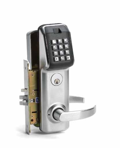 LS Series Lock Type See Order Guide 2 - page 45 Cylindrical This lockset easily retrofits into an ANSI 151.8 prepared door and requires only one additional 1 hole for installation.