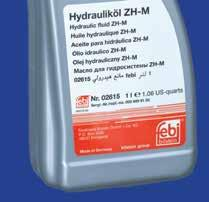 Hydraulic fluid ZH-M (yellow) febi no. 02615 (1 litre) e.g. repl. no. 000 989 91 03 febi 02615 mineral-based hydraulic fluid was developed for use in level control systems and central hydraulic systems of vehicles.