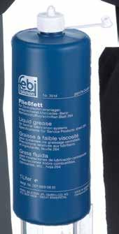 001 989 08 51 febi 03514 is a high-grade, ageing-resistant liquid grease with distinctive rust protection based on lithium soap, selected base oils and active substances.