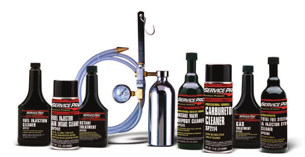 FUEL SYSTEM MAINTENANCE PRODUCTS CONCENTRATED TOTAL FUEL SYSTEM AND INJECTION SYSTEM CLEANER Synthetic formula fuel system cleaner Removes gum, carbon and varnish; restores power, performance and
