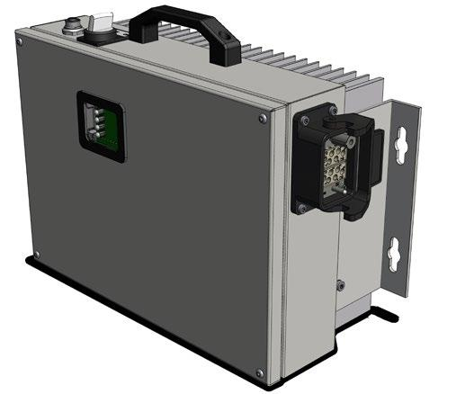 Stationary components Supply module The VM-100 supply module converts the grid power supplied into an alternating