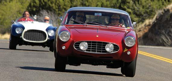 Outstanding Competition Car was Thomas Shaughnessy s rare 1954 Ferrari 375 MM while the Participants Choice Award honored Joe Moch for his 1963 Ferrari 250 GT California Spyder.