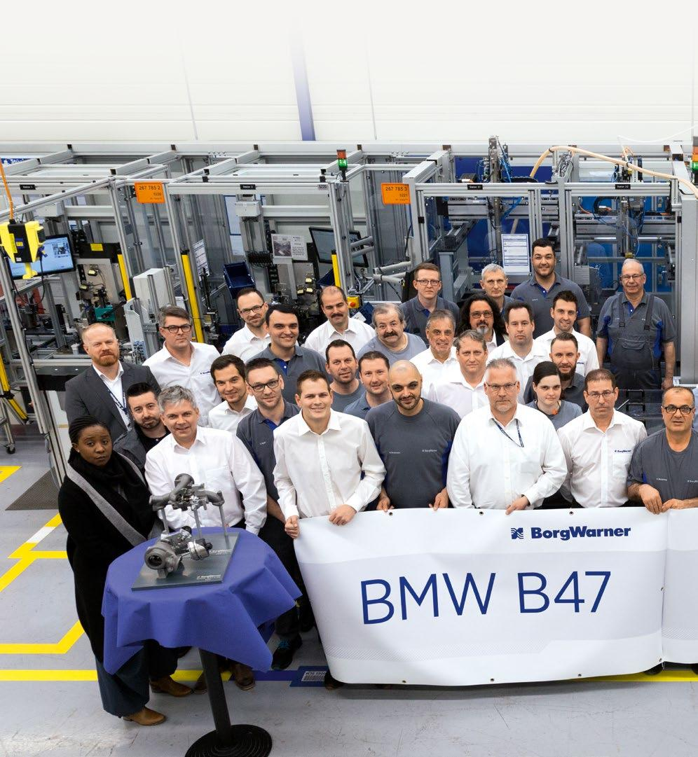 Customer project BorgWarner launches automated assembly for BMW Smart Automation BMW introduced the four-cylinder B47 turbodiesel around four years ago as a modular drive system.