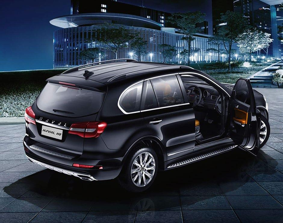 Drive for the luxury class: The Haval H8 and H9 models are among the luxury SUVs offered by Great Wall.