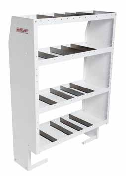""" DEEP ½"" DEEP ADJUSTABLE DIVIDERS Includes pack of four adjustable dividers for each shelf PUNCHED SHELVES for easier""stallation of accessory cabinets FRONT Floor Clearance ("" SHELVES only) for"