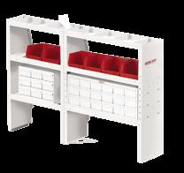 "Plumbing 0 00- Cable/Plumber Package --0 Mesh Bulkhead - Chevy City Express --0 Adjustable Shelf Unit ("" x "" x ½"")"