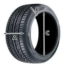 Factor #1: Tire Size - The rubber tire is comprised of 3 series of #s. These are the dimensions of the tire. In this figure, (e.g. 215/75/16) A. Width = 215mm (millimeters). B.