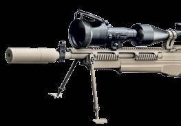 338 Lapua Magnum caliber allows military snipers to engage targets out to 1500 meters and beyond with an easily man portable