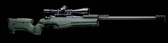 SAKO TRG 42 SNIPER WEAPON CONFIGURATIONS TRG 42 27 in. BARREL.338 LAPUA MAG FIXED STOCK TRG 42 Long Range sniper rifle in fixed stock and long barrel configuration offers maximum operational range in.