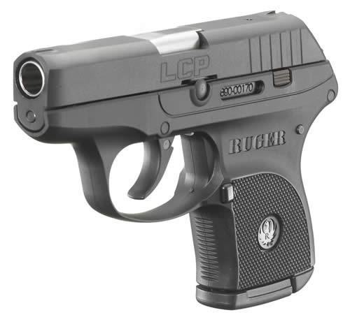 RUGER Ruger LCP 380 ACP BL/POLYMER FRAME 6+1 3701 COMES W/SOFT CASE & 1 MAG View the RULCP on the Ruger Website MFG Model No:3701 Family:LCP Series Model:LCP Type:Semi-Auto Pistol Action:Semi-Auto