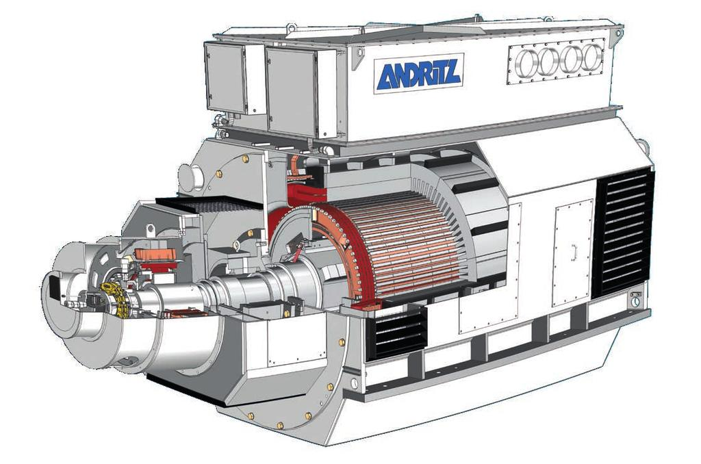 Multi-pole generators - best compact solution for gas engines A bridging of ANDRITZ multi-pole generators for hydro applications and our experience in turbo generators results in our ability to