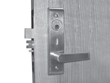 Deadbolt Retracted Vacant Deadbolt n Occupied cylinder function indicator The cylinder indicator is standard with the 8864 (bathroom) function and can be ordered as an