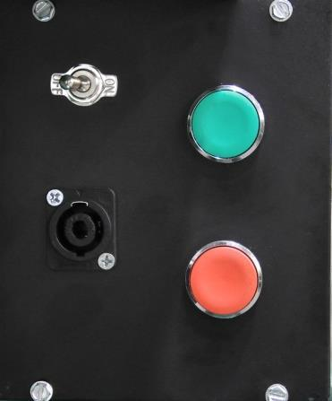 "FIGURE ""A"" FIGURE ""B"" Toggle Switch OFF ON Start Button Green NOTE: Turn selector switch to OFF position when performing maintenance or changing tooling."