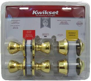 70 KW1404162 690P 15 KA6 6 $55.00 KW1406162 690P 26D KA6 6 $51.60 Single Cylinder Deadbolt w/ Entry Lockset (Cove w/660) KW1709162 690CV 11P KA6 6 $56.