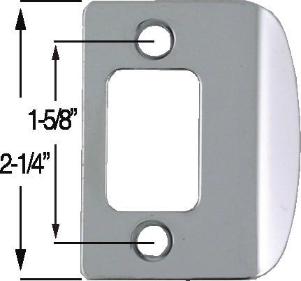 Deadbolt, Full Lip Square Corner