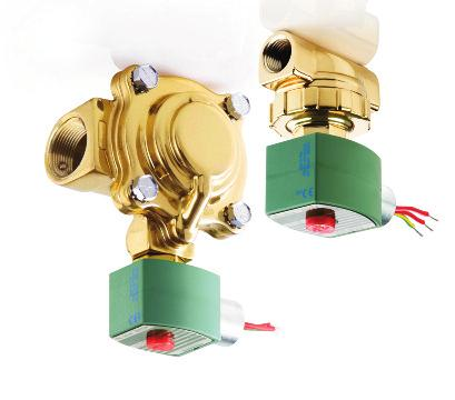 "Normally Closed or Normally Open ot Water and Valves Brass or Stainless Steel Bodies 1/8"" to 2 1/2"" NPT 2/2 Features ot water service to 210 psi differential @ 210 F; sevice to 125 psi differential @"