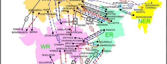 Transmission System Required upto 13 th Plan Condition Transmission Lines (400kV and above system) (values in ckm) At end of 11 th Plan Expected Addition in 12 th Plan Expected by end of 12 th Plan