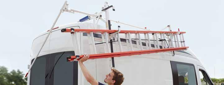 With just a twist of a lever, EZ-GLIDE System gently delivers your ladder to the right spot for back-saving loading and unloading.