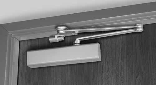 CloserPlus Arm Non-hold open arm shown imilar to the Parallel Rigid arm, this arm incorporates a stop at the arm s soffit plate to dead stop the door at a predetermined degree of door swing between