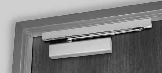 The arm geometry reduces door closer power efficiency by approximately 25% from that of a regular arm. Low Profile Push ide tandard unit: Adjustable85-110 (hold open and non-hold open).