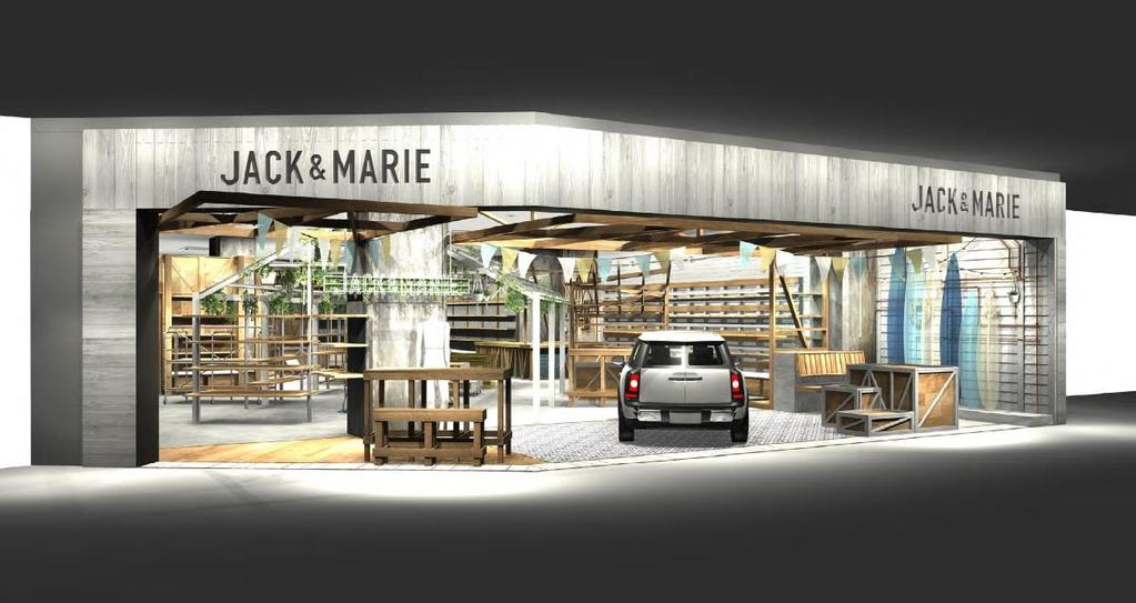 JACK & MARIE Second Store Store name: JACK & MARIE LaLaport NAGOYA minato AQULS Opening on: September 28, 2018 (Fri.