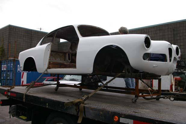The first picture show the Sprint in White as it arrived at the shop. The body is straight and the interior is a mess.