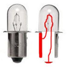 Wires that are not joined Light Bulb Battery For the Battery, the positive terminal is on the right and the negative terminal is on the left.