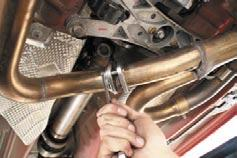 (The H pipe to manifold bolts may need to be loosened to
