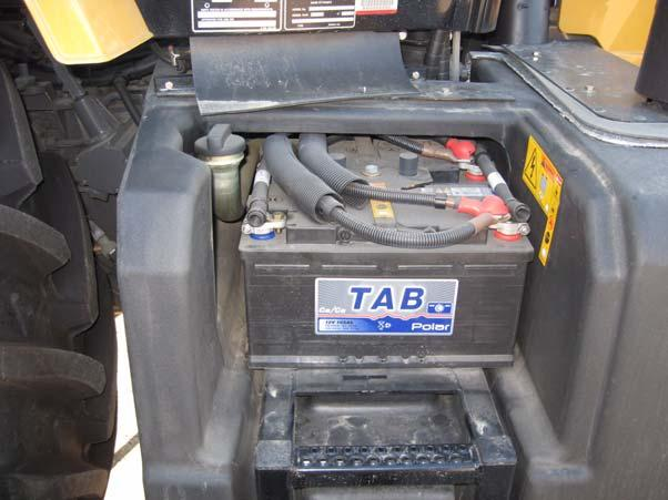 Figure 4-13 Vehicle Battery Location Battery Location Battery Box Lock 3.