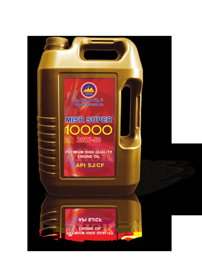 MISR SUPER 10000 is an advanced high quality high performance lubricating oil designed for use in gasoline engines.