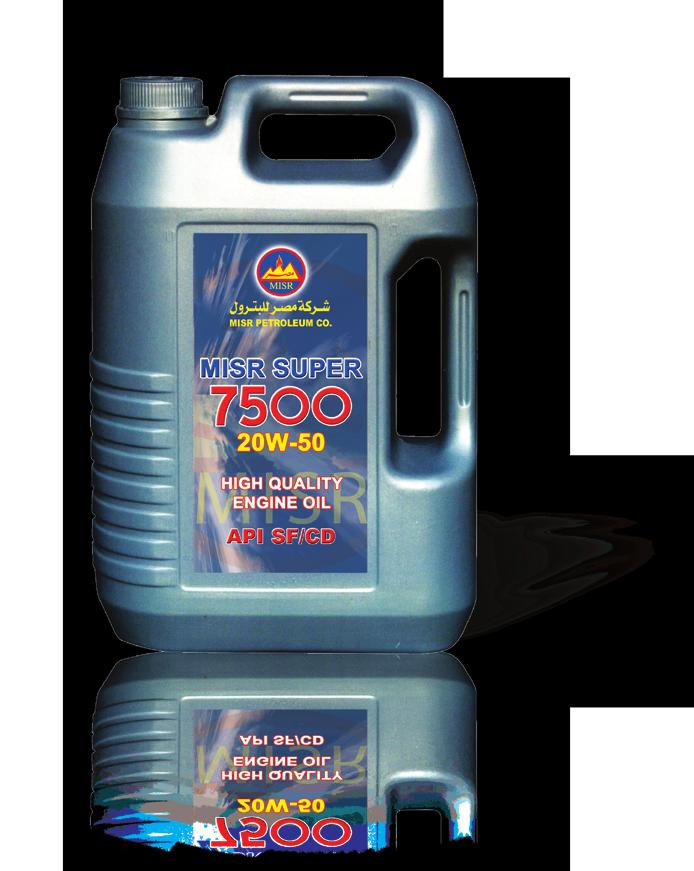 MISR SUPER 7500 is a high quality high performance lubricating oil designed for use in gasoline engines.