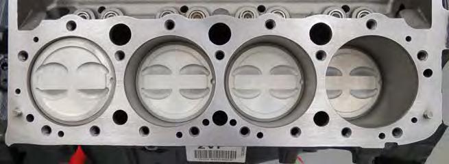 9. The engine block s mating surface should be virtually spotless as shown in the photo below.