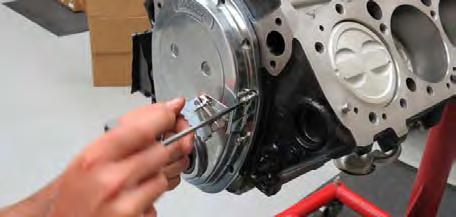 24. Apply a thin layer of assembly lube to the crank seal.