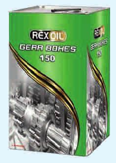 Industrial Gear Oils Rexoil Gear Boxes High performance against wear and friction High resistance to oxidation Superior protection against rust and corrosion
