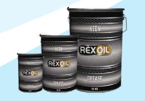 Rubber Grease Rexoil Neon Rubber Grease It adheres on metal in humid or wet environments to provide excellent resistance to washing away with water.