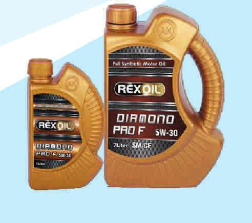 Rexoil Diamond Pro FE 5W-30 Rexoil Diamond Pro F 5W-30 Easier start in cold Low oil consumption Increases system efficiency by lowering exhaust gas emissions Excellent protection against wear