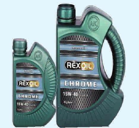 Rexoil Chrome 15W-40 It reduces maintenance costs, extends the service It reduces maintenance costs, extends the service life of the engine. It provides superior protection against wear of the engine.