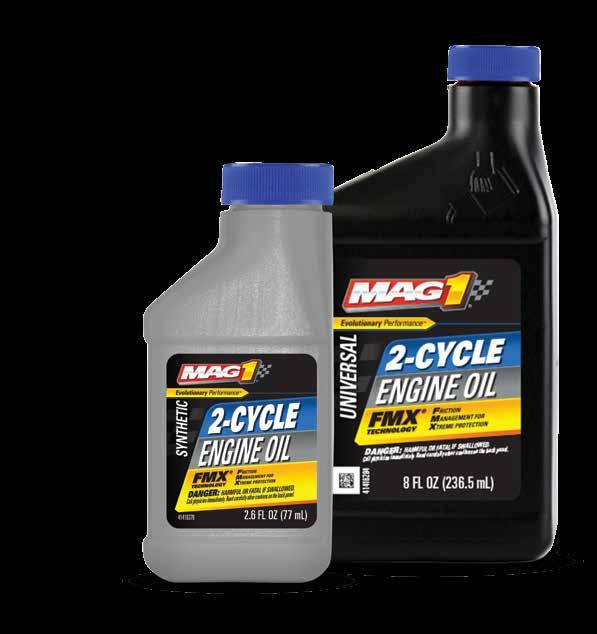 2-CYCLE CLAIMS PACK SIZES Universal * 12/2.6 Ounces 60179 12/8 Ounces 60138 Synthetic Universal * 12/2.6 Ounces 63119 Synthetic Blend with Fuel Stabilizer* 15.