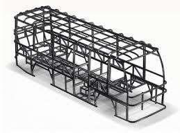 Bus Frame: The average bus frame weighs approximately eight hundred pounds when it is constructed out of titanium. If the frame was replaced with aluminum, it would weigh roughly 478.9 pounds.