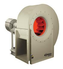 CMRS-X CMRS-X Belt-driven centrifugal fans with belt and pulley guard to ISO 13857 Fan: Steel scroll housing Backward curved, robust steel impeller, designed to transport clean air or air with
