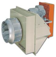 CMRH CMRH Belt-driven centrifugal fans with belt and pulley guard to ISO 13857 and 150mm of insulation exempt Fan: Manufactured from heavy gauge steel Backward curved, robust steel impeller Cast