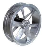 HFW HFW Order code Hot galvanised cased fans Cased axial fans designed with four support arms to reduce vibration, and fitted with low energy consumption aerodynamic blade.