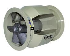 HBA HBA Forked cased axial fans with motor outside the air flow Forked cased fans for moving air of up to 150ºC continuously and up to 200ºC sporadically exempt Fan: Sheet steel casing Impeller made