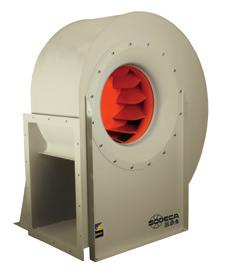 CMRS CMRS Robust, centrifugal, single inlet, medium pressure fans with backward curved impeller Fan: Steel scroll housing Backward curved, robust steel impeller, designed to transport clean air or