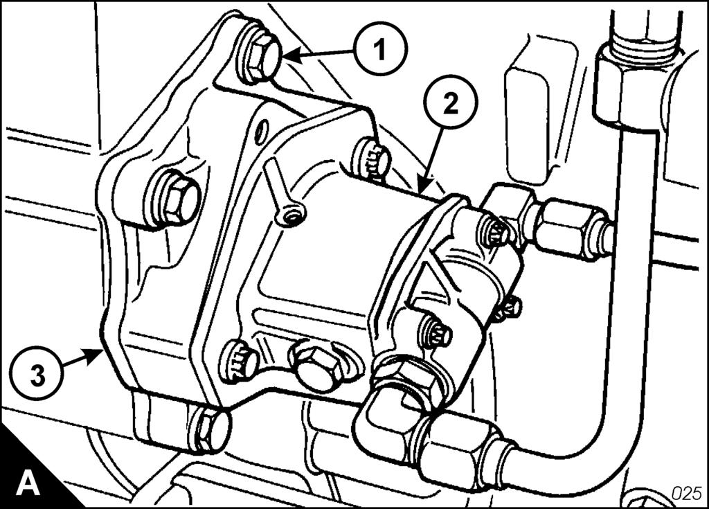 2800 Drive for the fuel transfer pump 11 To remove and to fit Operation 11-4 To remove 1 Remove the fuel transfer pump (A2), Operation 11-2.