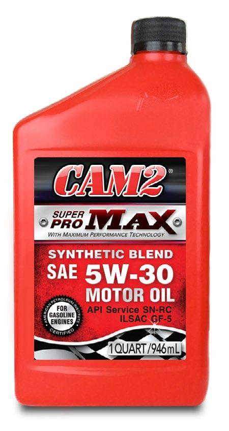 CAM2 SuperPro MAX is a synthetic blend premium motor oils that provides better low temperature pumpability and protection.